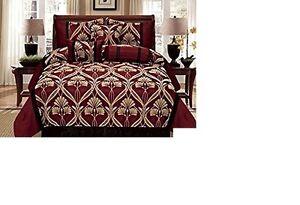 Luxury 7 Piece Saba Comforter Embroidered Bedding Set