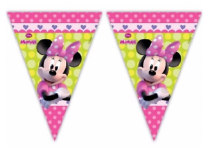 Minnie-Mouse-Flag-Banner-Bunting-Children-039-s-Birthday-Party-Decoration-Boys-Girls