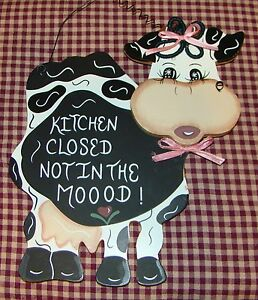 Ordinaire Image Is Loading Cow KITCHEN CLOSED NOT IN THE MOOD Awesome