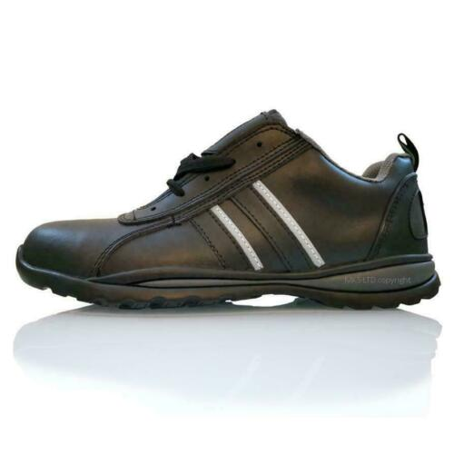 MENS STEEL TOE CAP SAFETY BOOTS WORK SHOES LEATHER TRAINER WATER RESISTANT BNIB
