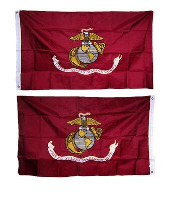 Marines USMC 3ftx5ft 3x5 3/'x5/' Double Sided 2ply Heavy Duty 210D Nylon U.S