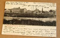 AK Dresden Pieschen Hafen Leipziger Str. Ecke Rehefelder Str.gelaufen 1904 Top
