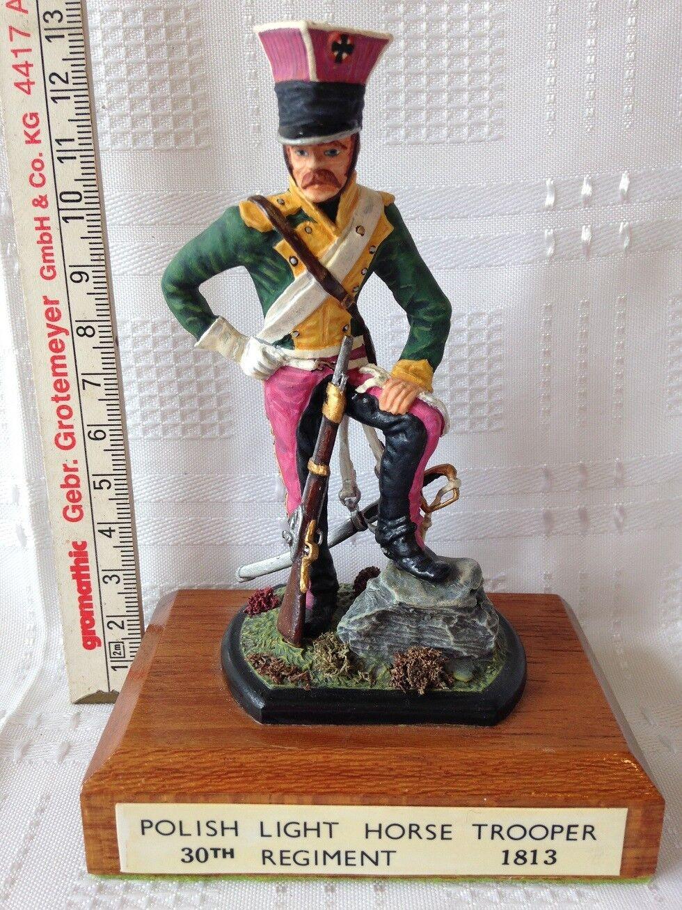 POLISH LIGHT HORSE TROOPER 30th REGT - 1813. 115mm Die-Cast Figure. FREE UK POST