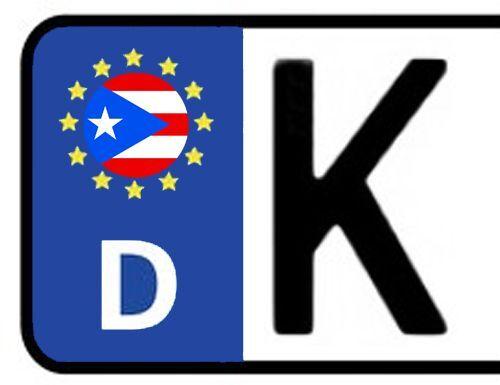2x Kennzeichen Aufkleber Nummernschild PUERTO RICO Sticker