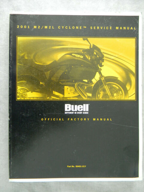 Buell 2001 M2  M2l Cyclone Service Manual 99491