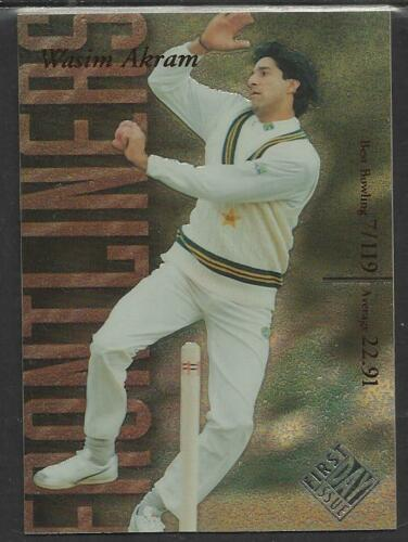FUTERA 199697 CRICKET DECIDER 1st Day Issue WASIM AKRAM Pakistan FL3 #0241