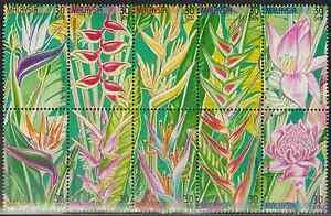 246-MALAYSIA-1999-STAMP-WEEK-HELICONIA-FLOWER-PLANT-SET-FRESH-MNH