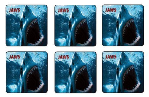 "JAWS COASTERS 1//4/"" BAR /& BEER SET OF 6"