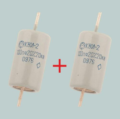 100 pF 20 kV Lot de 2 russes à haute tension condensateurs céramiques KVI-2 КВИ-2