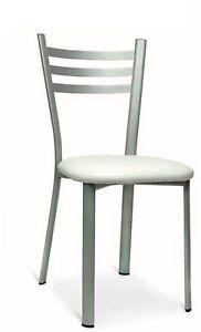 Sedie Da Cucina Imbottite.Sedia Da Cucina Bar Ristorante Struttura In Metallo Seduta Imbottita Finta