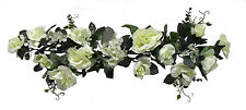 IVORY SWAG ~ Silk Wedding Flowers Roses Hydrangea Arch Gazebo Decor Centerpieces