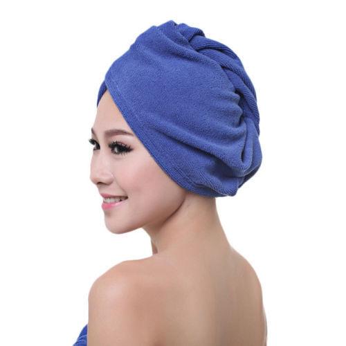 Turbie Twist Towel Super Absorbent Hair Wrap Head Drying Cap Loop Button Hot