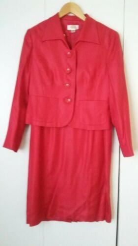 carriera di 8 lana P Tuta Petite tubino in Abbigliamento seta Talbot rossa smart PwPHvqWX