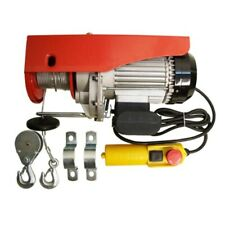 980w Electric Wire Rope Cable Hoist Lift Pulley 450lb 900lb
