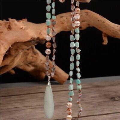 Labradorite Onyx Amazonite Natural Stone Necklace