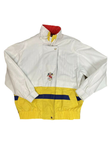 Vtg 80s/90s IZZI Small/M? Yellow White Blue Red Re
