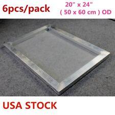 6pcs 20 X 24 Aluminum Silk Screen Printing Frame With 160 Mesh White Usa