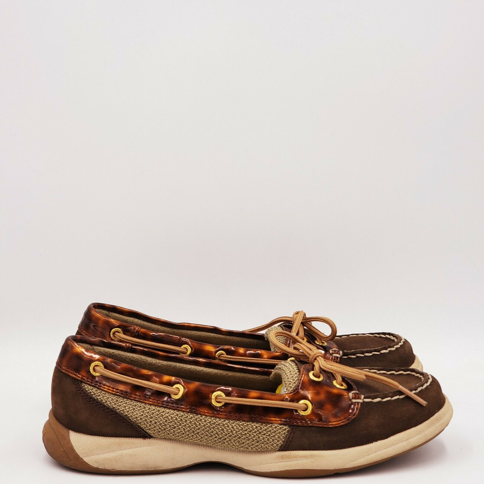 Sperry Women's Laguna Tortoise Brown Boat Shoes Size 7.5 Medium Brown B512