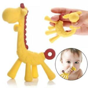 Kids Toddler Silicone Giraffe Teether Toy For Baby Teething Necklace Pendant Z