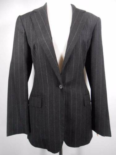 størrelse 10 kvinders Jacket W Mørkegrå Pinstripes Light Lauren Ralph Smukke q54wHvx