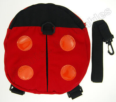 Safety Harness Baby Toddler Ladybird Backpack Walking Strap Bag NEW in Box