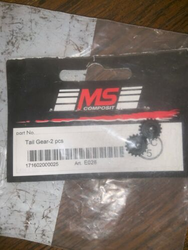 Ms Composit E028 Tail Gear 2 Pcs Rc Heli Helicopter Part Parts