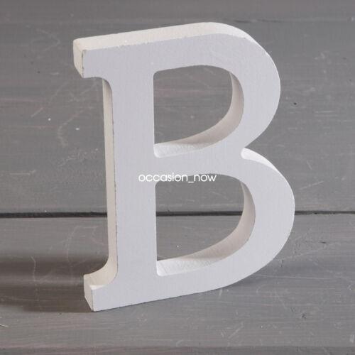 White A-Z Wooden Alphabet  Wedding Home Name Mr/&Mrs Freestanding Letter