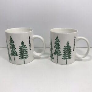 2-Starbucks-Pine-Tree-Design-12-Fl-oz-Coffee-Tea-Ceramic-Ceramic-Mug-Cup-2015
