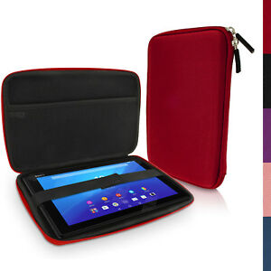 Red-EVA-Travel-Hard-Case-Cover-Bag-for-Sony-Xperia-Z4-SGP771-10-1-034-Tablet
