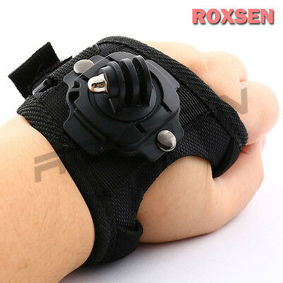 360° Swivel Glove Style Wrist Hand Palm Band Strap Mount S for GoPro Hero 3 3+ 4