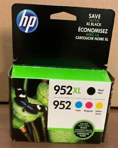 4-PACK-HP-GENUINE-952XL-Black-amp-952-Color-Ink-OFFICEJET-PRO-8710-new-in-box