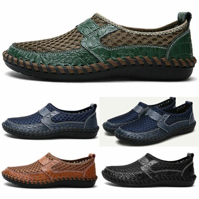 Herren Mokassins Slipper Mesh Schuhe Halbschuhe Sommer Atmungsaktiv Loafers