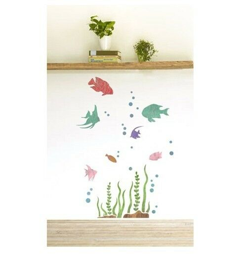"WALL STENCILS PATTERN 39.37""x23.62"" Airbrush STENCIL LARGE TEMPLATE tropical"