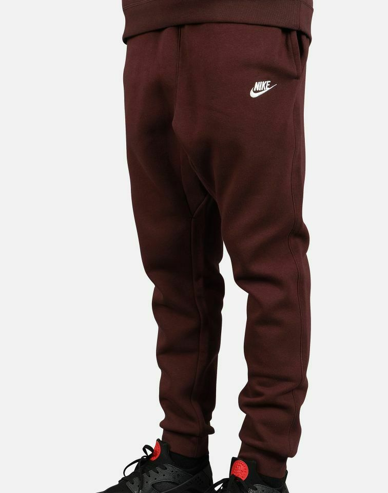 {804408-653} MEN'S NIKE NSW CLUB JOGGER SWEATPANTS BURGUNDY NEW