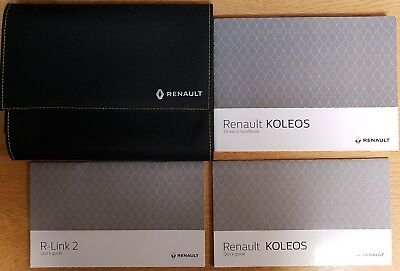 RENAULT KOLEOS OWNERS MANUAL HANDBOOK WALLET 2016-2019 PACK K-769
