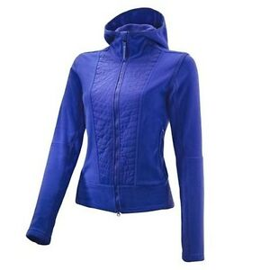 Adidas-By-Stella-Mccartney-Performance-Fleece-ClimaWarm-Jacke-Blau-Sportjacke-SM