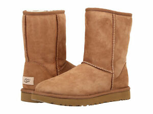 Men-UGG-Classic-Short-Boot-Twinface-5800-Chestnut-100-Authentic-Brand-New