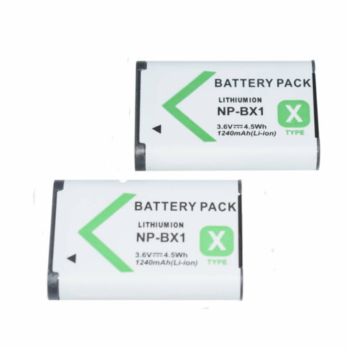 2x batería para Sony Np-los autobús Bx1 Dsc-Rx1 rx1r Rx100 Ii Iii hx60v H400 wx350