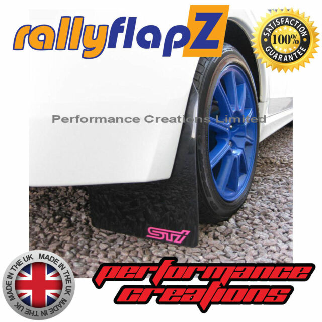 Mudflaps Subaru Impreza Escotilla 08-14 Qty4 RallyflapZ 4mm Pvc Negro Rosa Sti Estilo