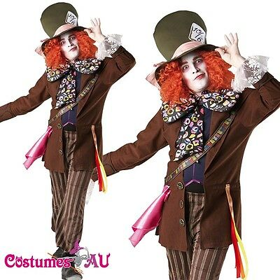 Alice In Wonderland Mad Hatter Mens Adult Fancy Dress Halloween Costume Rubie's