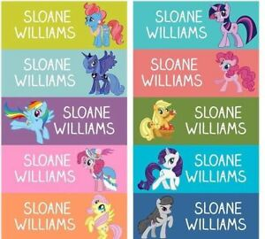 68 personalized kid name back to school stickers my little pony