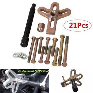21PC-Heavy-Duty-Steering-Wheel-Puller-Harmonic-Gear-Pulley-Crankshaft-Tool