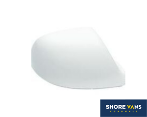 VW Transporter T5 T5.1 T6 Wing Mirror Cover Cap VW CANDY WHITE Drivers OS