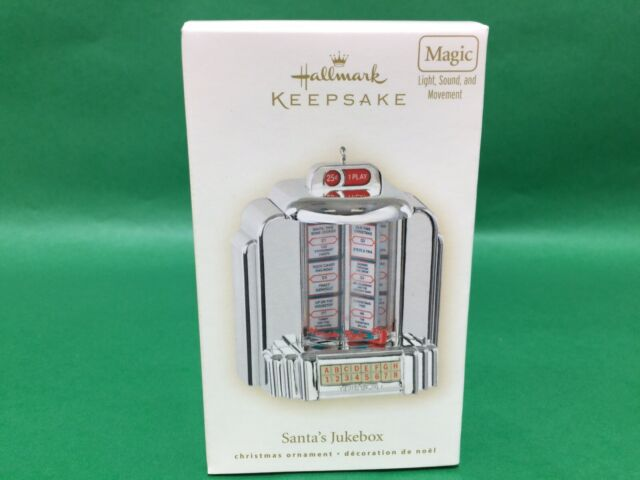 Hallmark Keepsake Ornament 2007 Santa's Jukebox light sound movement