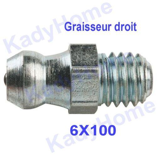 Graisseur hydraulique outil de graissage droit 6x100