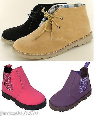 Los Chicos De Postre Botas Niños Chicos Little Girls zapatos encaje hasta los bebés 10 11 12 13 1 2