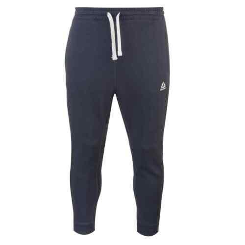 Mens Reebok Big Logo Jogging Bottoms Fleece Print New