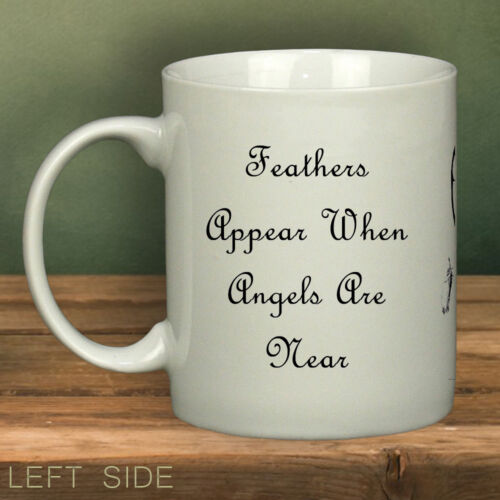 Feathers Appear When Angels Are Near MugSpecial MugsRemembranceRIP LOVE