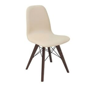 Style Charles Room Eames Chair Dining Eiffel Solid Retro Wood Beige PkwX08nO