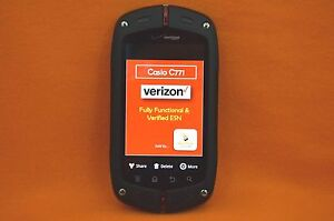 verizon casio c771 g zone commando rugged smartphone black rh ebay com Casio Commando C771 Casio Phone